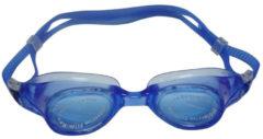 SportX Donkerblauwe anti chloor zwembril voor volwassenen