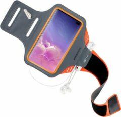 Oranje Mobiparts Comfort Fit Sport Armband Samsung Galaxy S10 Plus Neon Orange