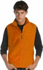 James & Nicholson Fleece casual bodywarmer oranje voor heren - Holland feest/outdoor kleding - Supporters/fan artikelen XL