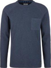 Marineblauwe Q/S Designed by Heren T-shirt Longsleeves - Maat XS