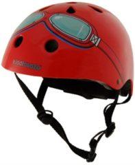 Kiddimoto - Rode Bril - Small - Geschikt voor 2-6jarige of hoofdomtrek van 48 tot 52 cm - Kinderhelm - Skatehelm - Fietshelm