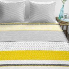 Gele Ambiante selma dekbedovertrek - lits-jumeaux (240x200/220 cm + 2 slopen)