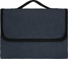 Marineblauwe James & Nicholson Picknickkleed Fleece Navy 130x150cm