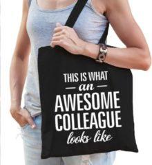 Shoppartners Kadotas This is what an awesome collaegue looks like zwart katoen - cadeautas voor collega's
