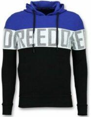 Enos Striped Hooded Sweatshirt - Hoodies Kopen Online - Blauw Hoodies Heren Sweater Maat XS