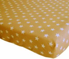 BINK Bedding Hoeslaken Stars Oker Juniorbed 70 x 150 cm