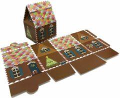 Presentdoosjes.nl Presentdoosje Kersthuisje bruin, groot: 13,2x10,6x18,5cm (10 stuks)