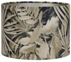 Bruine Light & Living Kap cilinder 40-40-30 cm VELOURS palm sepia