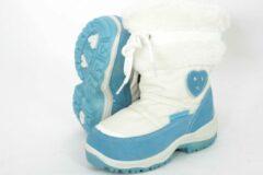 Lichtblauwe Rucanor Ice snowboot-meisje-wit/l.blauw-25