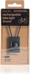 Bookman Block Fietsverlichting - LED Voorlicht - Oplaadbaar via USB - Compact Design - Zwart