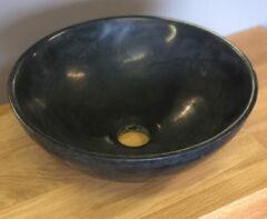 B-Stone Liva ronde waskom 32cm graniet