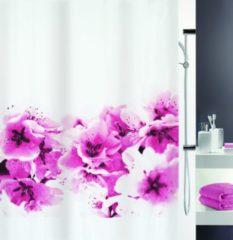 Roze SPIRELLA douchegordijn decor AMANDA - PINK - TEXTIEL - 180 x 200 cm