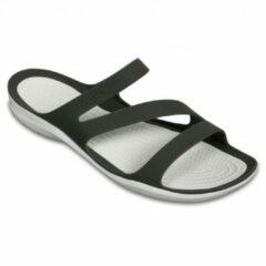 Crocs Swiftwater Slippers - Maat 37 - Vrouwen - groen/beige Maat 37-38