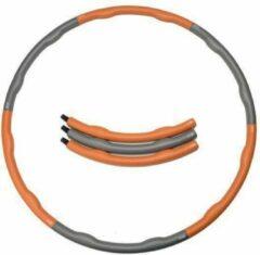 Weight hoop Original - Fitness Hoelahoep - Met DVD - 1.2 kg - Ø 100 cm - Oranje/Grijs