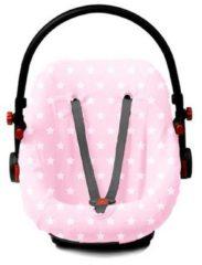Briljant Baby Autostoelhoes badstof dessin Thijs - maat 0+ roze
