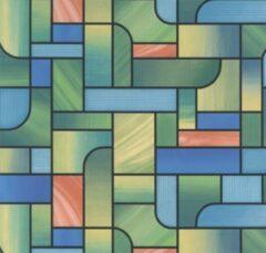 Gekkofix Plakfolie - Kleeffolie - Kleefplastiek - Plakplastiek - 45 cm x 15 meter - Grote rol - Gekleurd glas