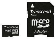 Transcend Information Transcend Flash-Speicherkarte (microSDHC/SD-Adapter inbegriffen) TS16GUSDHC10