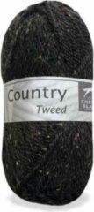 Cheval Blanc Country Tweed wol en acryl garen - zwart (034) - pendikte 4 a 4,5 mm - 1 bol van 50 gram