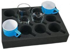 Antraciet-grijze Silverpoint Houder Foam Florence Voor Glazen