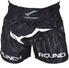 Punch Round™ Punch Round Kickboks Broekjes NoFear Zwart Wit maat L
