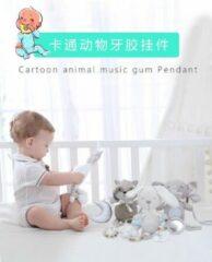 Grijze Speelgoed/ Speeltje/cadeau voor baby/ Muziekale bijtring hanger BBSKY olifant