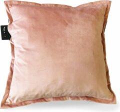 Sit & Heat - Warmtekussen Square Roze 50 x 50 cm voor binnen en buiten. [kussen van velours/Velvet/Fluweel]