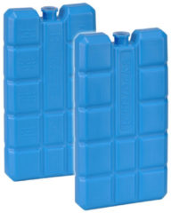 Set Van 2x Blauwe Koelelementen 200 Gram 8 X 15 X 2 Cm - Koelblokken/koelelementen Voor Koeltas/koelbox