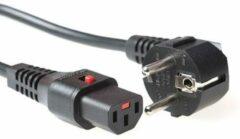 Zwarte EFB Elektronik EK600SW.2 2m Netstekker type E+F C13 stekker Zwart electriciteitssnoer