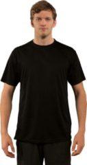 Zwarte Skinshield by Vapor Apparel - UPF 50+ UV-zonbeschermend heren performance T-Shirt, korte mouwen