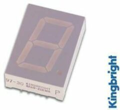 Groene 1-DIGIT DISPLAY 25mm GEMEENSCHAPPELIJKE KATHODE GROEN - Kingbright