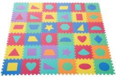 HOMCOM Puzzlematte Kinderspielteppich 36 tlg. abwaschbar Bunt Puzzlematte Kinderspiel-teppich Schaumstoffmatte