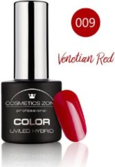 Rode Cosmetics Zone UV/LED Hybrid Gel Nagellak 7ml. Venetian Red 009