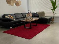 EB Commerce Vloerkleed Laagpolig - Rood 170x230