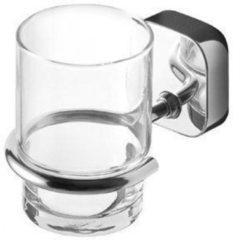 Geesa Thessa glashouder met glas wandmodel chroom 91240202