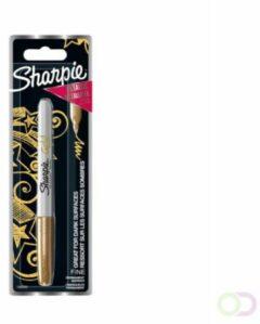 Gouden Sharpie Metallic markeer stift Permanent F 1,4mm Gold 1er Blister