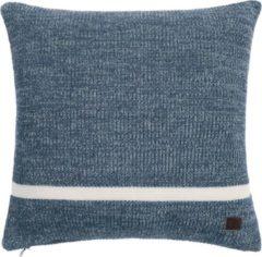 Blauwe MARC O'POLO Rivar Sierkussen Vierkant Misty blue - 50x50 cm