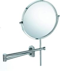 Zilveren Lucido Spiegel met Wandbevestiging - RVS glans- Kela