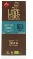 Lovechock Sweet nibs & seasalt 70 Gram