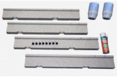Villeroy & Boch Villeroy en Boch Futurion Flat installatieset v grote maten douchebakken hoogte verstelbaar van 135 155mm v douchebakken van 120x80cm to 180x100cm u91411100