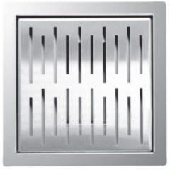 Zilveren Laqua Doucheput/vloerput Square 20x20cm RVS