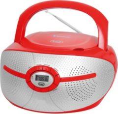 Trevi CMP 552 BT Stereo-Radio-CD-Player mit CD und Bluetooth - rot