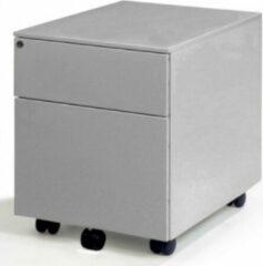 Albeka Verrijdbaar Ladeblok Medium 60 - Aluminium - Ladeblok Op Wieltjes - 2 Laden - 1 Hangmaplade En 1 Gewone Lade - Voorzien Van Slot Incl. 2 Sleutels - Metaal
