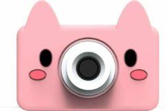 The Zoo Family Pink Pig 24MP digitale roze kindercamera + Selfie Video