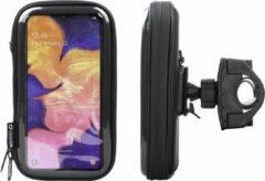 Interphone - Samsung Galaxy A10 Motorhouder Unicase Telefoonhouder Fiets en Motor Stuur Zwart