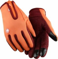 Topco Waterdichte Touchscreen Handschoenen - Oranje L