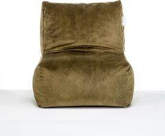 Laui lounge Velvet - Volwassen Zitzak - Indoor - Moss, Groen - 68 x 68 x 74 x 34 cm