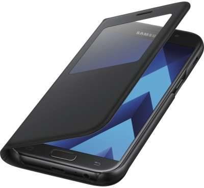 Afbeelding van Samsung S View Standing Cover EF-CA520 GSM flip cover Geschikt voor model (GSMs): Samsung Galaxy A5 (2017) Zwart