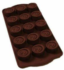 Bruine Duo pack Siliconen chocolade vormen - Praline hartjes en snoepjes mal - Holy Moldy