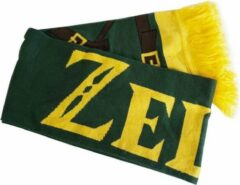 Groene Nintendo ZELDA - Link's Knitted Scarf with Printed Starps