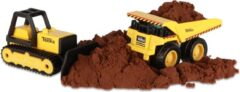 Tonka bulldozer en laadwagen junior staal geel/zwart